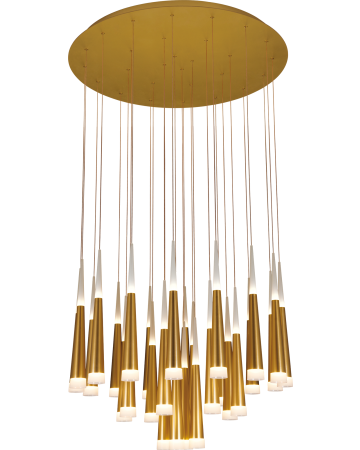 Meteor Series Pendant - Gold 28 Light - Remote Control Dimming