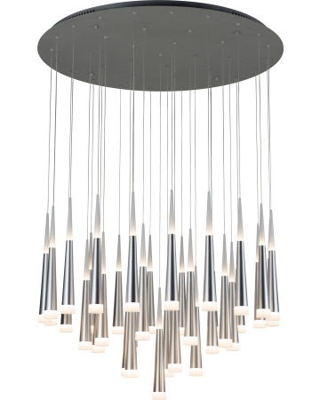 Meteor Series Pendant - Silver 36 Light - Remote Control Dimming
