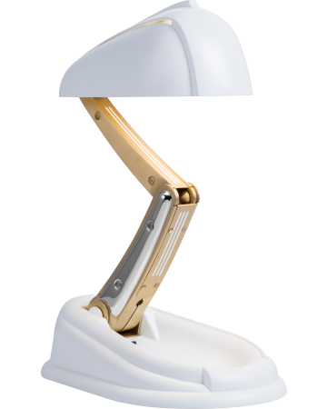 Bakelite Table Lamp - White
