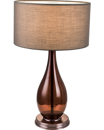 Fabio Series Table Lamp -  Brown