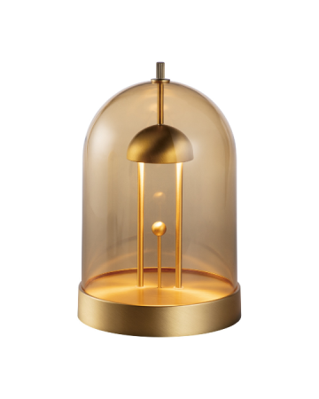 Amber Table Lamp - Brass