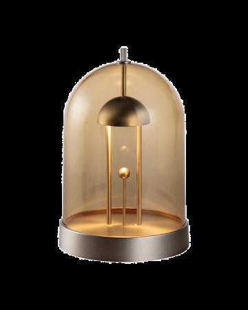 Amber Table Lamp - Nickel