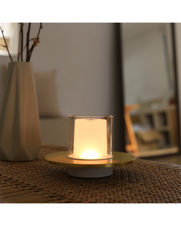Candle GC Brass Table Lamp