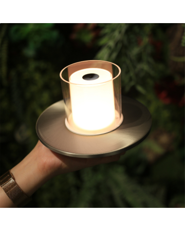 Candle GC Nickel Table Lamp