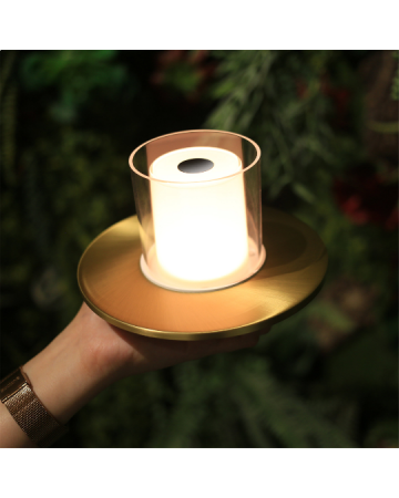 Candle TC Brass Table Lamp