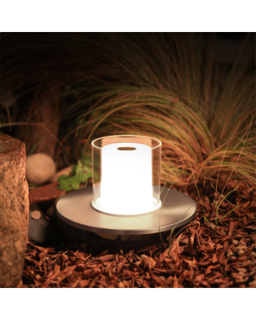 Candle TC Nickel Table Lamp