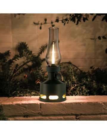 Old Days Table Lamp In Forest Green