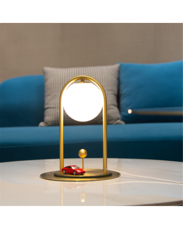 Linglong S Table Lamp in Antique Brass